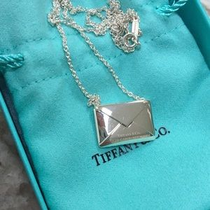 Tiffany&Co envelope necklace